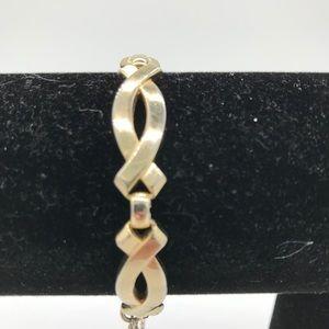 Vintage gold Monet Bracelet A-11